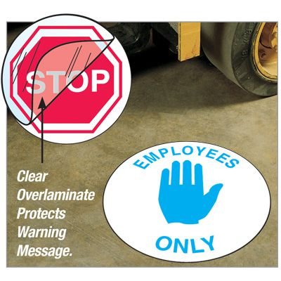 Anti-Slip Safety Floor Markers - Employees Only
