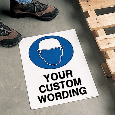 Custom Anti-Slip Safety Floor Signs