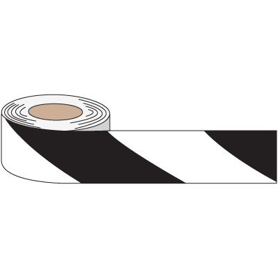 Striped Anti-Slip Tape - White/Black