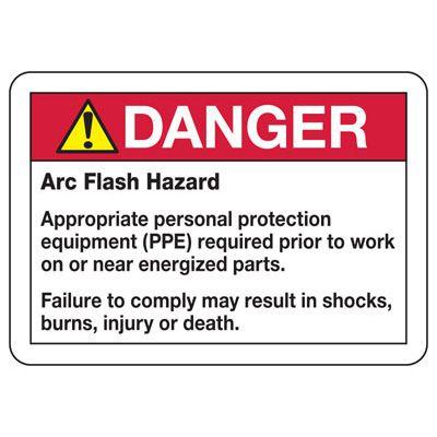 Danger Arc Flash Hazard - Industrial Arc Flash Sign