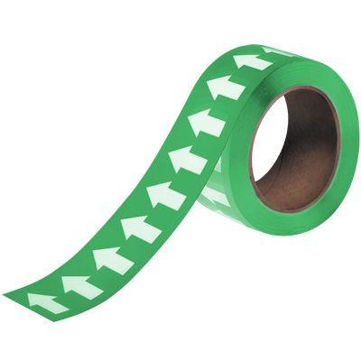 Arrows-On-A-Roll™ Tape - Green/White Stripe