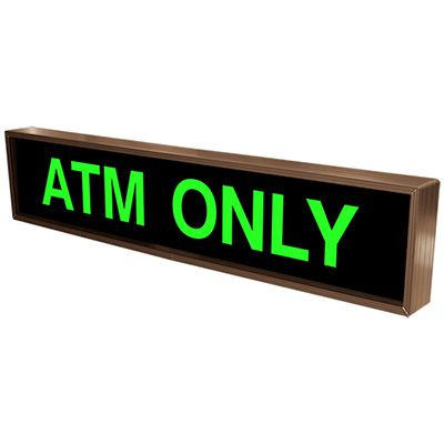 ATM Only Backlit LED Sign
