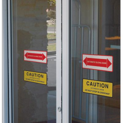 Automatic Door Signs - Caution Automatic Door