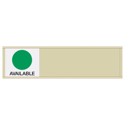 Available/In Use - Blank Sign Sliders