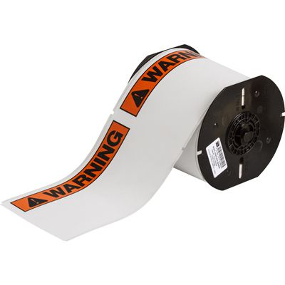 Brady B30-25-854-ANSIWA B30 Series Label - Black/Orange on White