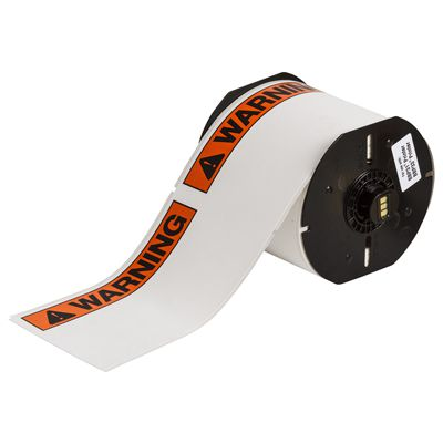 Brady B30-25-855-ANSIWA B30 Series Label - Black/Orange on White