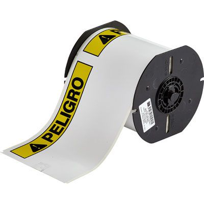 Brady B30-25-855-PEL B30 Series Label - Black/Yellow on White