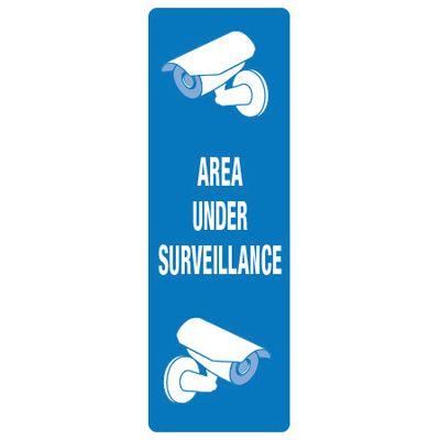 Back Of Sign Labels - Area Under Surveillance