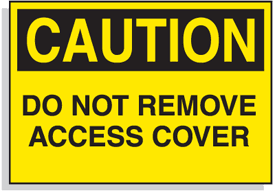 Baler Safety Labels - Caution Do Not Remove Access Cover