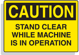 Baler Safety Labels - Caution Stand Clear While Machine is in Operation