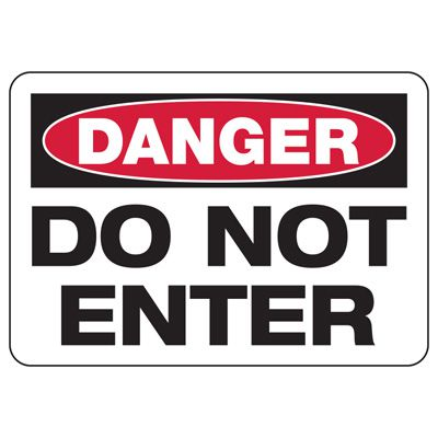 Baler Safety Signs - Danger Do Not Enter