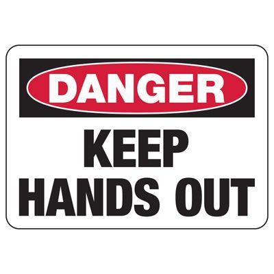 Baler Safety Signs - Danger Keep Hands Out