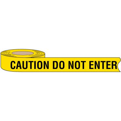 Biodegradable Caution Do Not Enter Barricade Tape