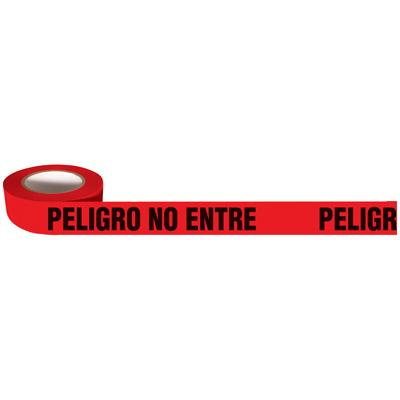 Spanish No Enter Barricade Tape