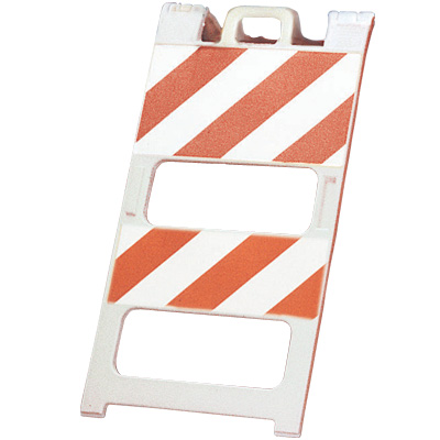 45h x 25w Dual Striped Barricade