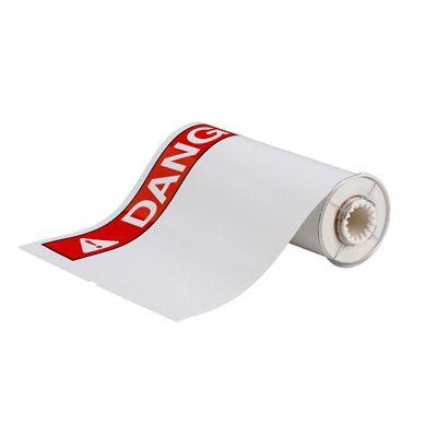 BBP®85 Series Label: Vinyl, ANSI DANGER, Red on White, 10 in H x 14 in W