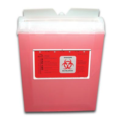Bemis™ 5-Quart Wallsafe® Sharps Container 8507SA