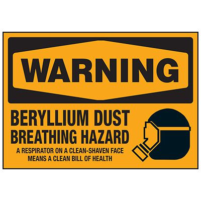 Beryllium Breathing Hazard Labels