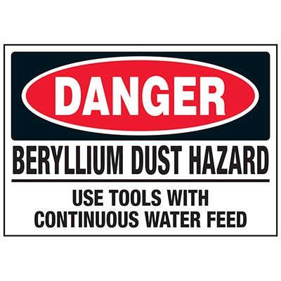 Beryllium Dust Hazard Labels