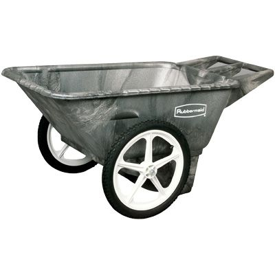 Rubbermaid® Big Wheel Cart 5642-BLA