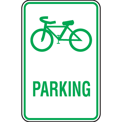 Bike Signs- (Bike Graphic) Parking