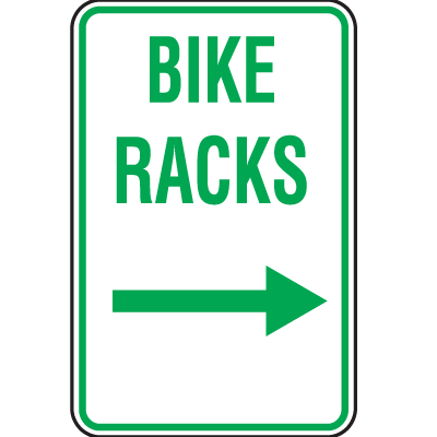 Bike Signs- Bike Racks (With Left Arrow)