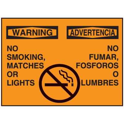 Bilingual Graphic Safety Signs - Warning/Advertencia