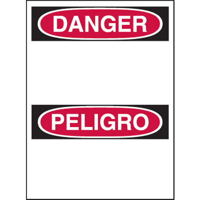 Bilingual Hazard Warning Labels - Danger Header Only