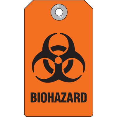 Biohazard - Accident Prevention Heavy Duty Plastic Tag