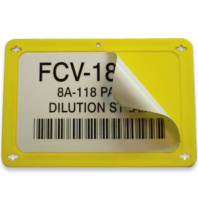 Blank Durable Plastic Valve Tags