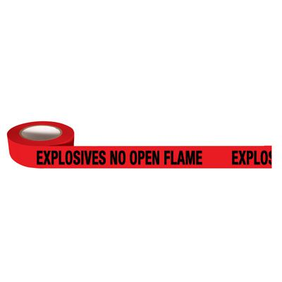 Barricade Tapes-Explosives No Open Flame