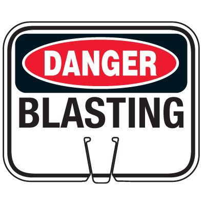 Blasting Cone Signs - Danger Blasting