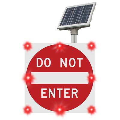 BlinkerSign® Flashing LED DO NOT ENTER Sign