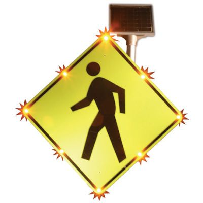 BlinkerSign® Pedestrian Crossing Sign