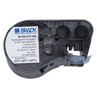 Brady M-250-075-342 BMP51/53 Label Cartridge - Black on White