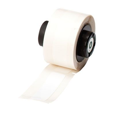 BMP®71 TLS 2200® Series ToughBond® Label: Polyester, White, 2 in H x 0.5 in W