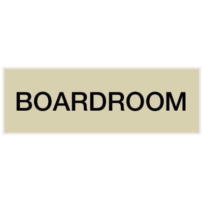 Boardroom - Engraved Standard Worded Signs