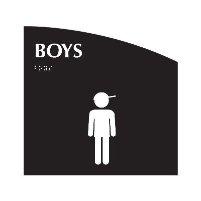 Boys - Evolution Restroom Signs