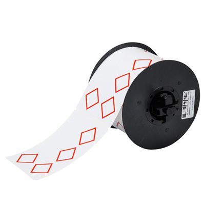 Brady B30-261-7569-CLP4A B30 Series Label - Red on White