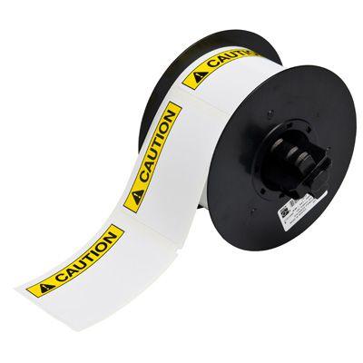 Brady B30-25-595-ANSICA B30 Series Label - Black/Yellow on White