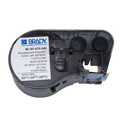 Brady M-187-075-342 BMP51/53 Label Cartridge - Black on White