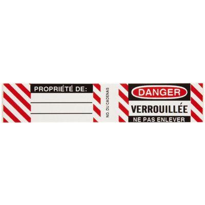 Brady Steel Padlock Label - Danger Verrouillee Ne Pas Enlever - Part Number - 50283 - 6/Pack