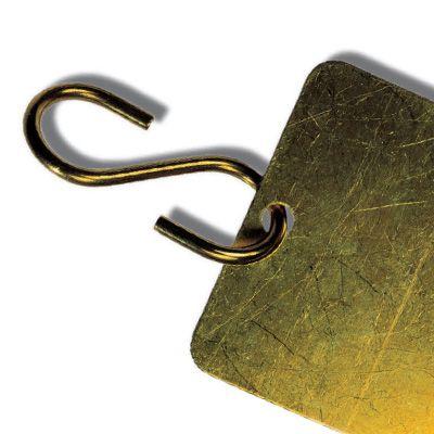 Brass S Hooks Valve Tag Fasteners
