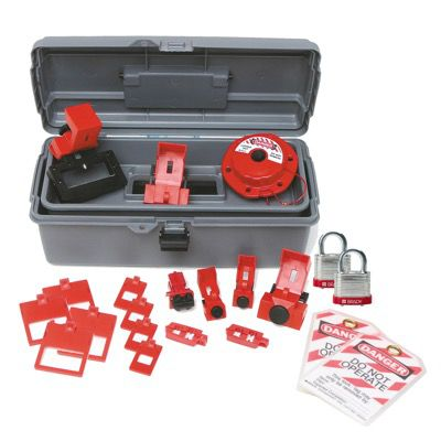 Brady Breaker Lockout Toolbox Kit With Brady Steel Padlocks & Tags - Part Number - 99308 - 1/Each