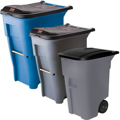 Rubbermaid® Brute Roll-Out Waste Containers 9W21-GRAY