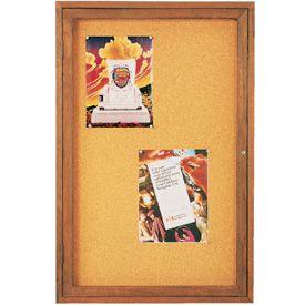 Walnut Framed Enclosed Bulletin Boards