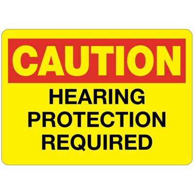 C-1 Caution Hearing Protection Required - Vinyl