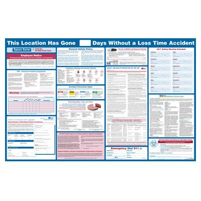 California OSHA All-In-One Safety Poster