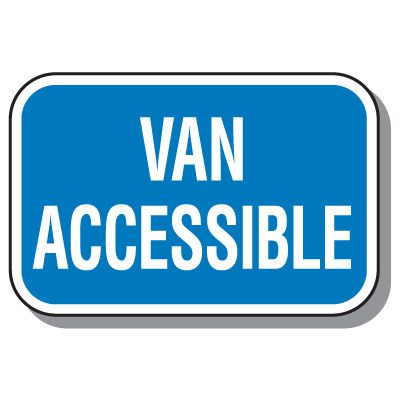 California State Handicap Signs - Van Accessible