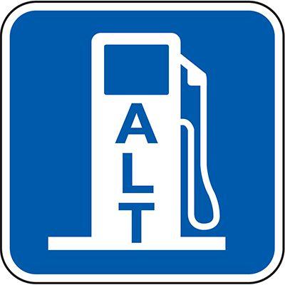 California Traffic & Parking Signs - Alternative Fuel Station (Symbol)